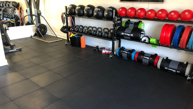 Polymax TOUGH gym mats in home gym